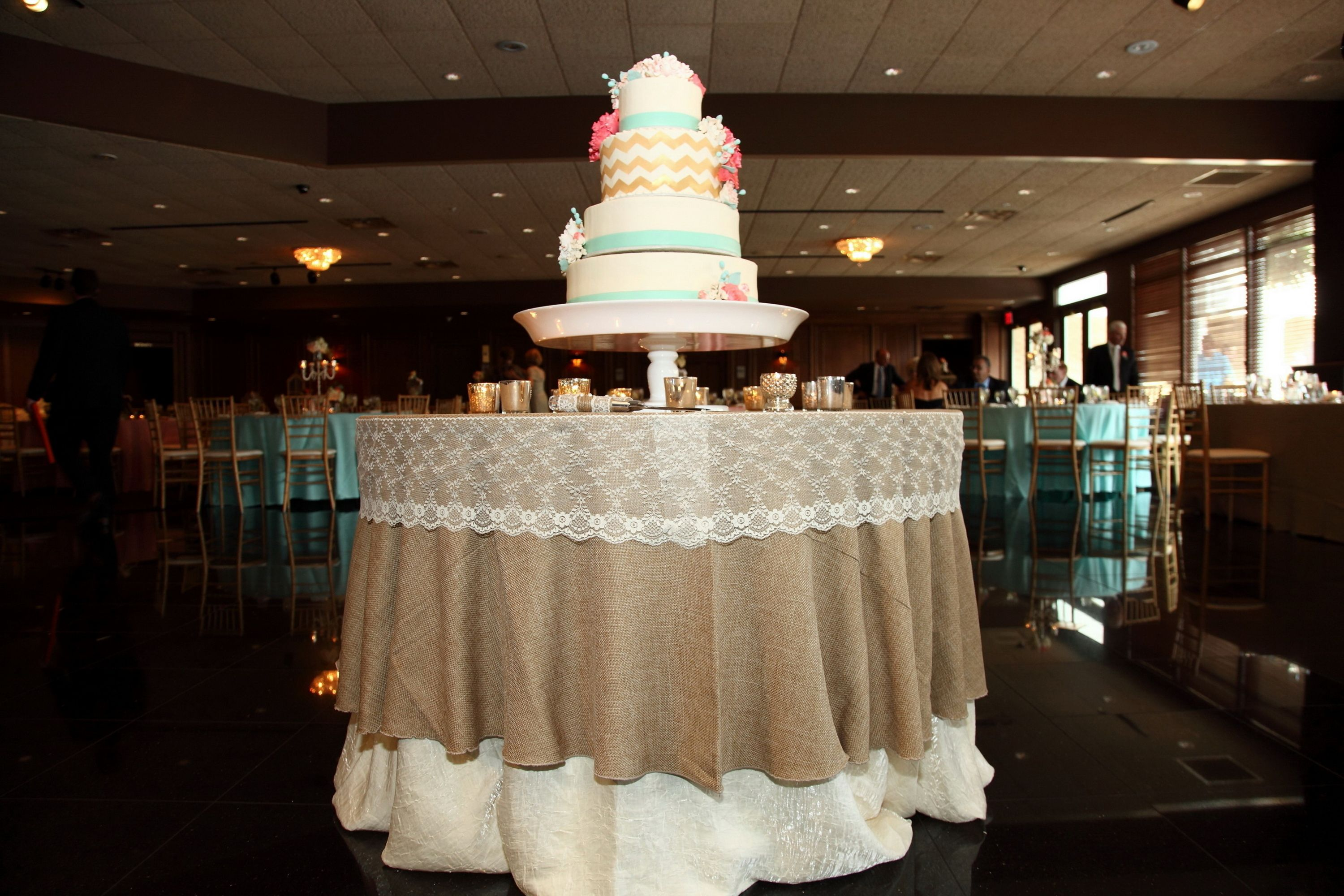Wedding cake table with burlap and lace wedding ideas pinterest wedding cake table with burlap and lace junglespirit Gallery