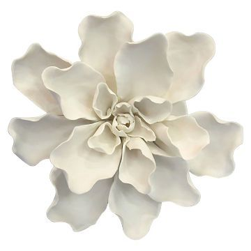 Ceramic Flower Wall Décor Small White Threshold In 2019