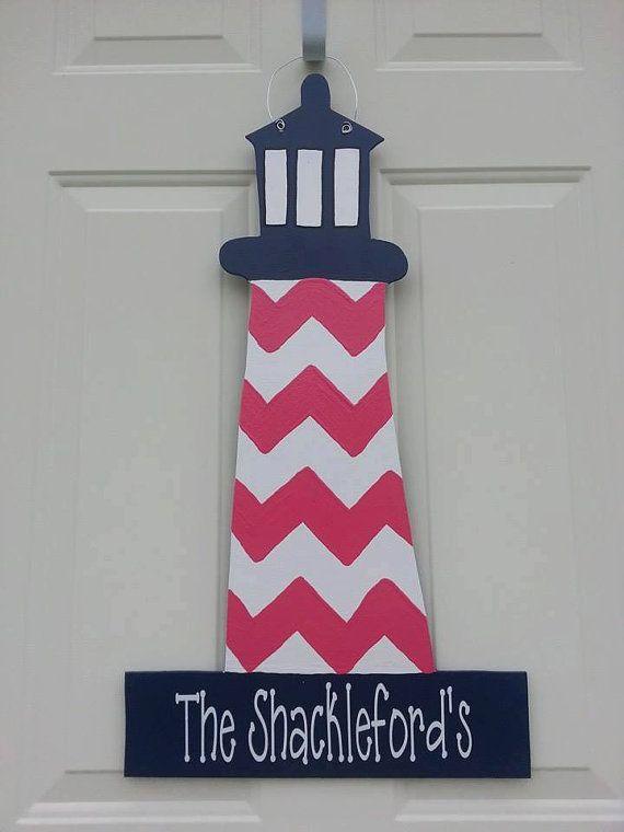 Lighthouse Door Hanger by YourCraftyCreations on Etsy & Lighthouse Door Hanger by YourCraftyCreations on Etsy | Door ... Pezcame.Com