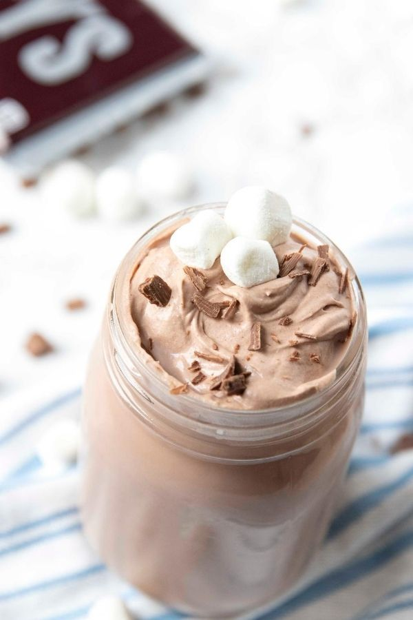 3 ingredients are all you need to make this whipped hot chocolate. You only need a few minutes to make this whipped hot chocolate recipe! #passion4savings #drink #hotchocolate #Hotcocoa #kidfriendly #easy #whipped #cold