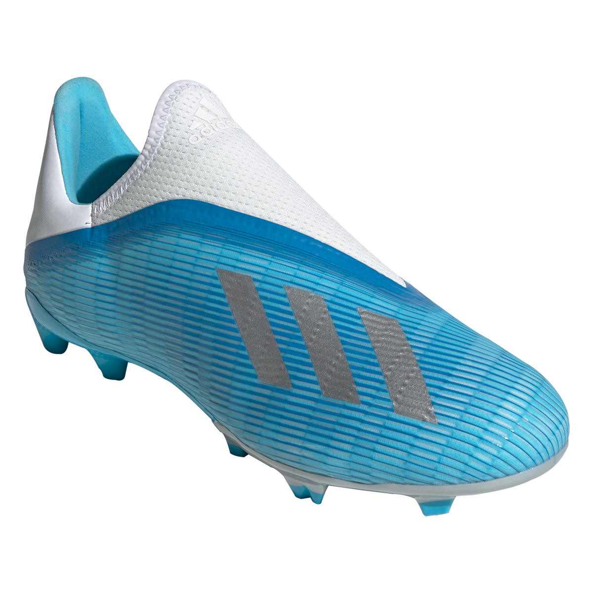 adidas X 19.3 Laceless FG Soccer Cleat Cyan/Black/Pink-10.5 ...