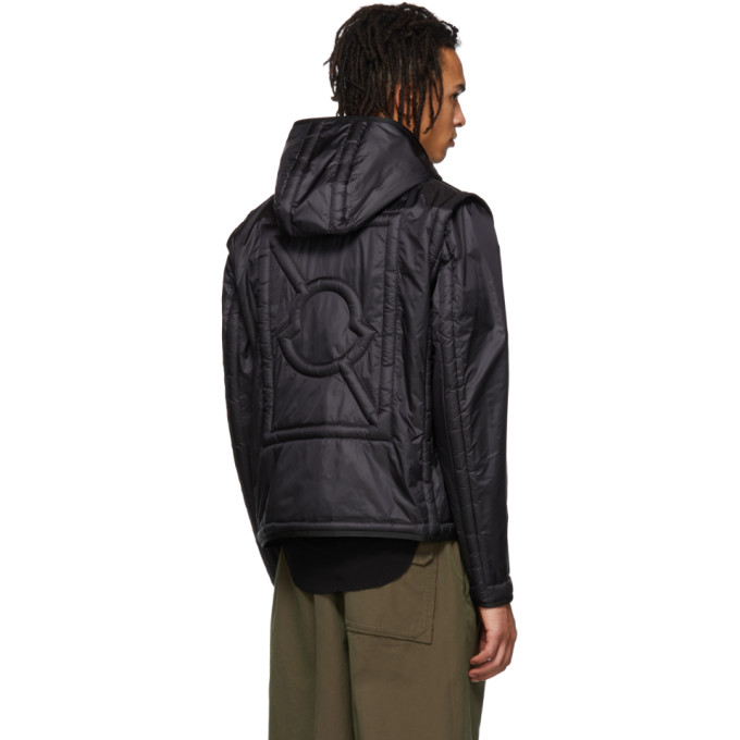 5 Moncler Craig Green Apex Quilted Shell Hooded Down Jacket In Black