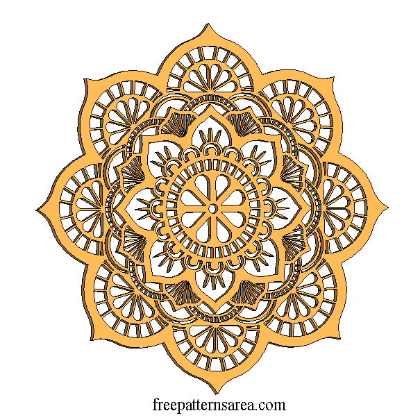 eaa1450d6b Lotus Mandala Vector Art Pattern Files | Laser Cutting | Kağıt kesme ...