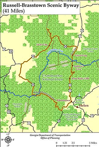 Russell Brtown Scenic Byway Driving Tour Map | Dahlonega ... on clermont florida map, blue ridge parkway north carolina map, lake helen florida map, peachtree city ga map, helen water park, helen wedding chapel, habersham county map, atlanta map, helen ga, ellijay map, helena ga map,
