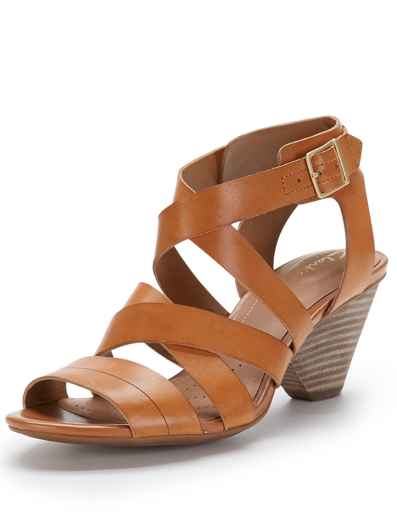 d80fa236a0d Clarks Ranae Estelle Low Strappy Sandals