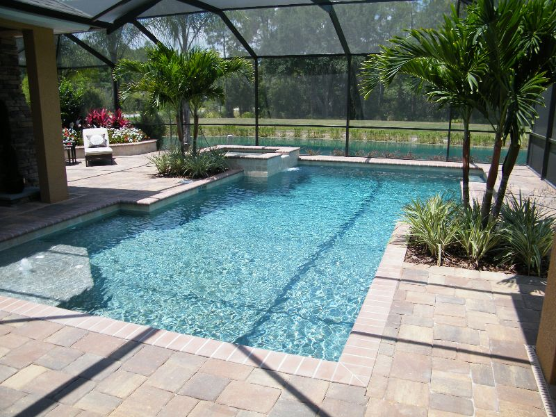 Rectangular Pool Designs With Spa 153 best pools images on pinterest | outdoor spaces, swimming