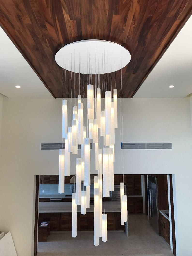 Modern Foyer Chandelier For Entrayway Or Stairway Lighting High