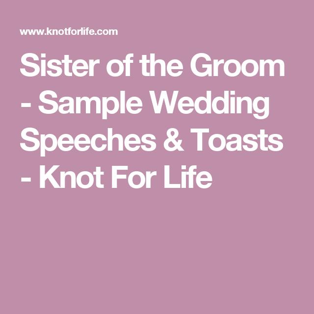 Sample Wedding Speeches & Toasts