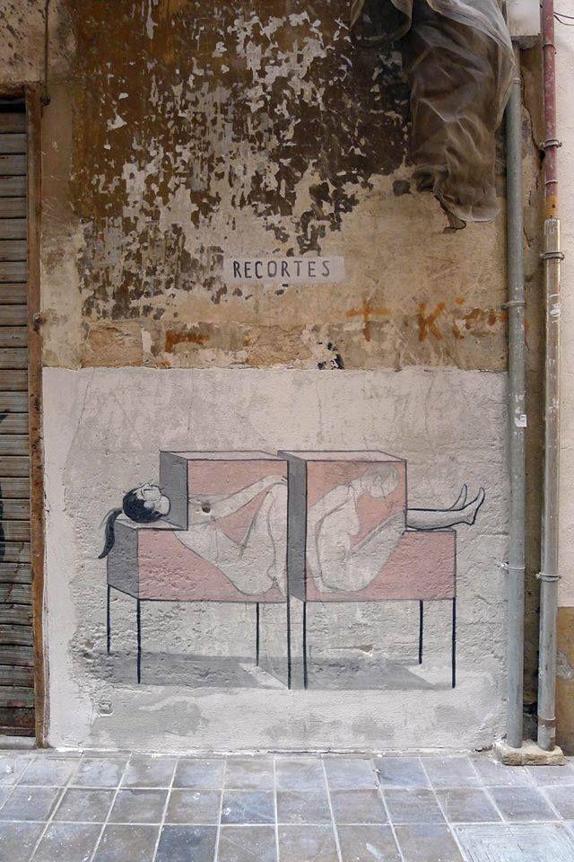 "by Escif - ""Recortes"" - Valencia, Spain - Sept 2014"