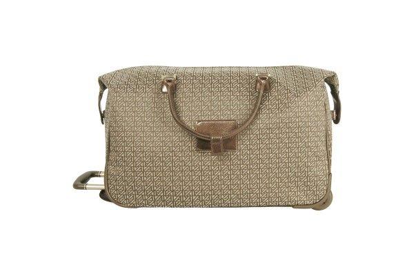 Anne Klein Signature Jacquard Rolling City Bag 2716C06 - Luggage Pros