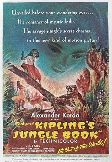 Rudyard Kipling S Jungle Book 1942 Vintage Movie Ad Vintage Movie Ads Dschungelbuch Kino