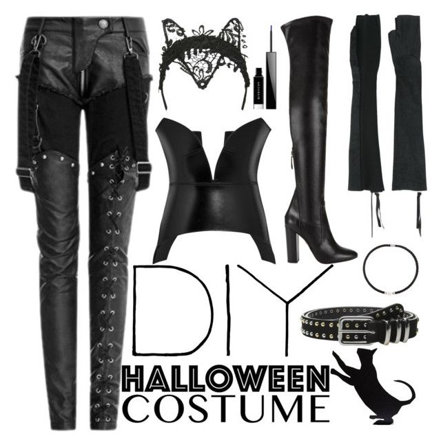 """""""Untitled #99"""" by bofdo ❤ liked on Polyvore featuring Topshop, Aquazzura, Loewe, MASNADA, DaVonna, The Kooples, Givenchy, halloweencostume and DIYHalloween"""