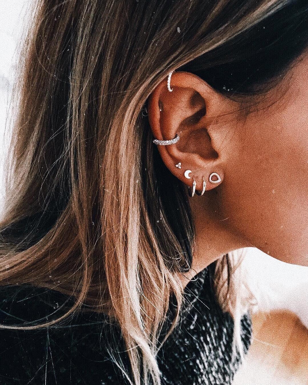 14k Yellow Gold Disk Design Heart Diamond Earrings Stud Post Studs Round Micro Pave Flat - Fine Jewelry Ideas