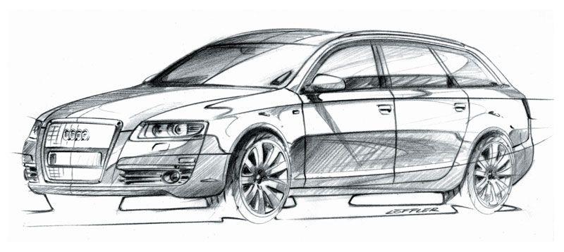 Audi A6 Avant Design Sketch Car Body Design Design Inspiration