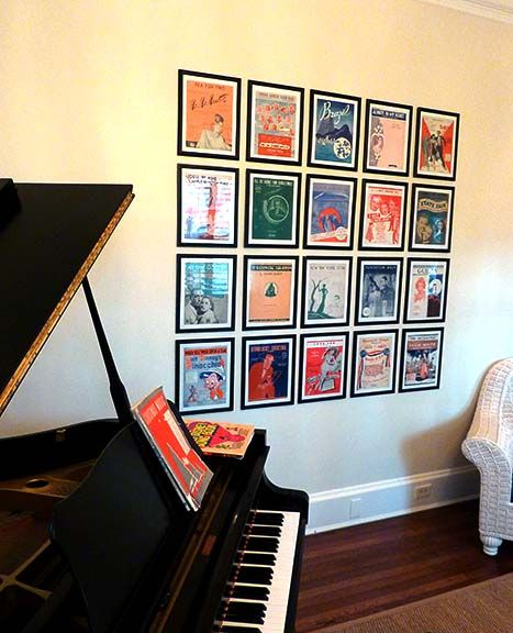 Sheet-music Covers As Wall-art. Classic Art-deco Music