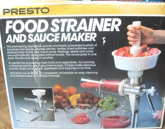 New Presto Food Strainer And Sauce Maker Model 02600 By