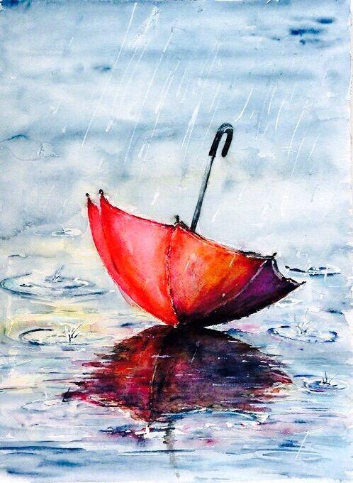 Image Via We Heart It Rain Red Umbrella Wallpapers