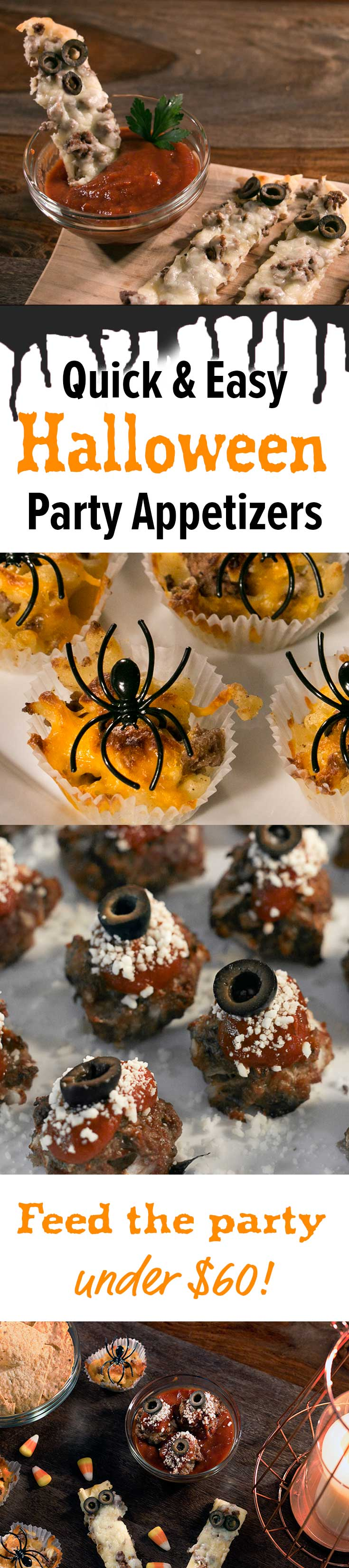 we love these quick, easy halloween party appetizers. recipes
