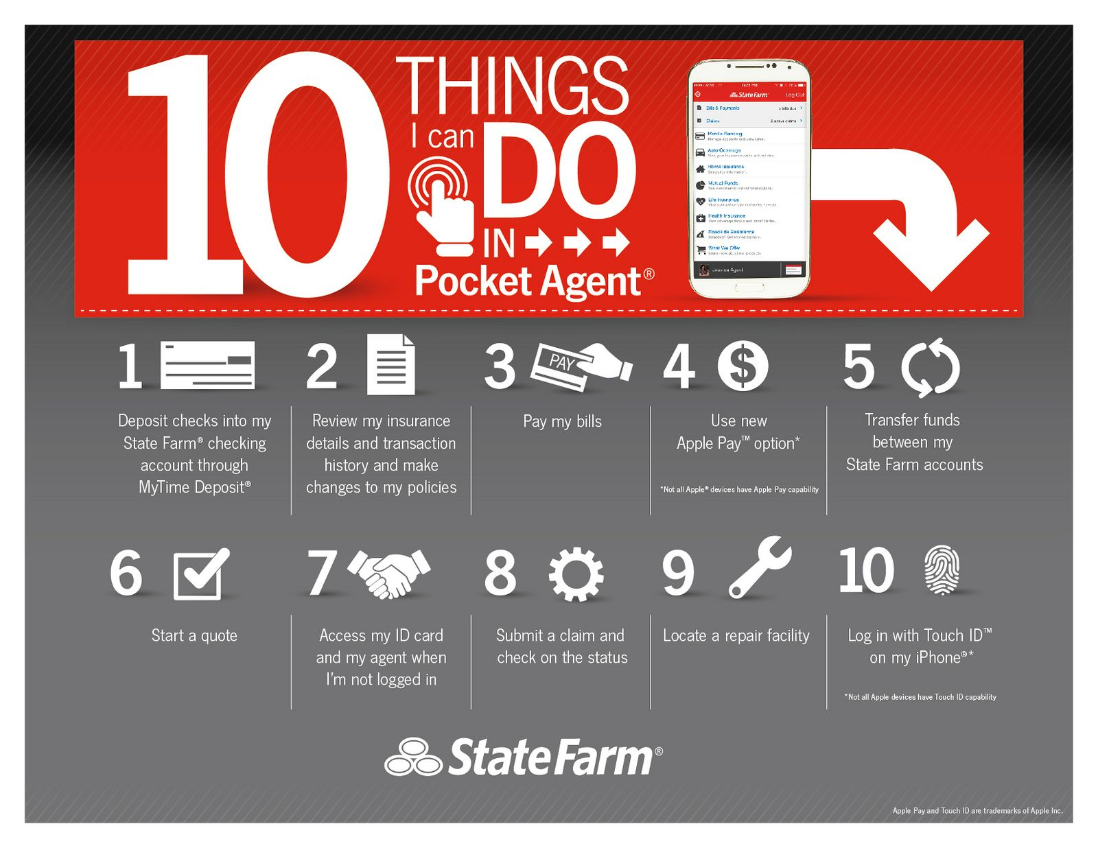 10 Things to Do on Pocket Agent State farm, Things to do