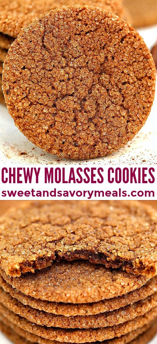 Molasses Cookies are soft and chewy with the perfect balance of spice
