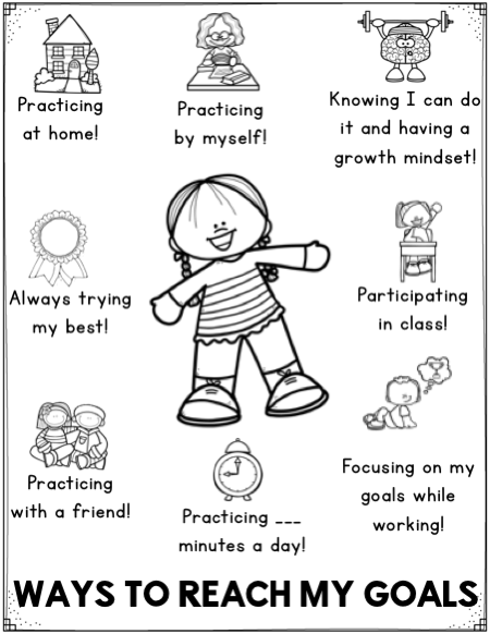 Free student goal setting worksheets are a student
