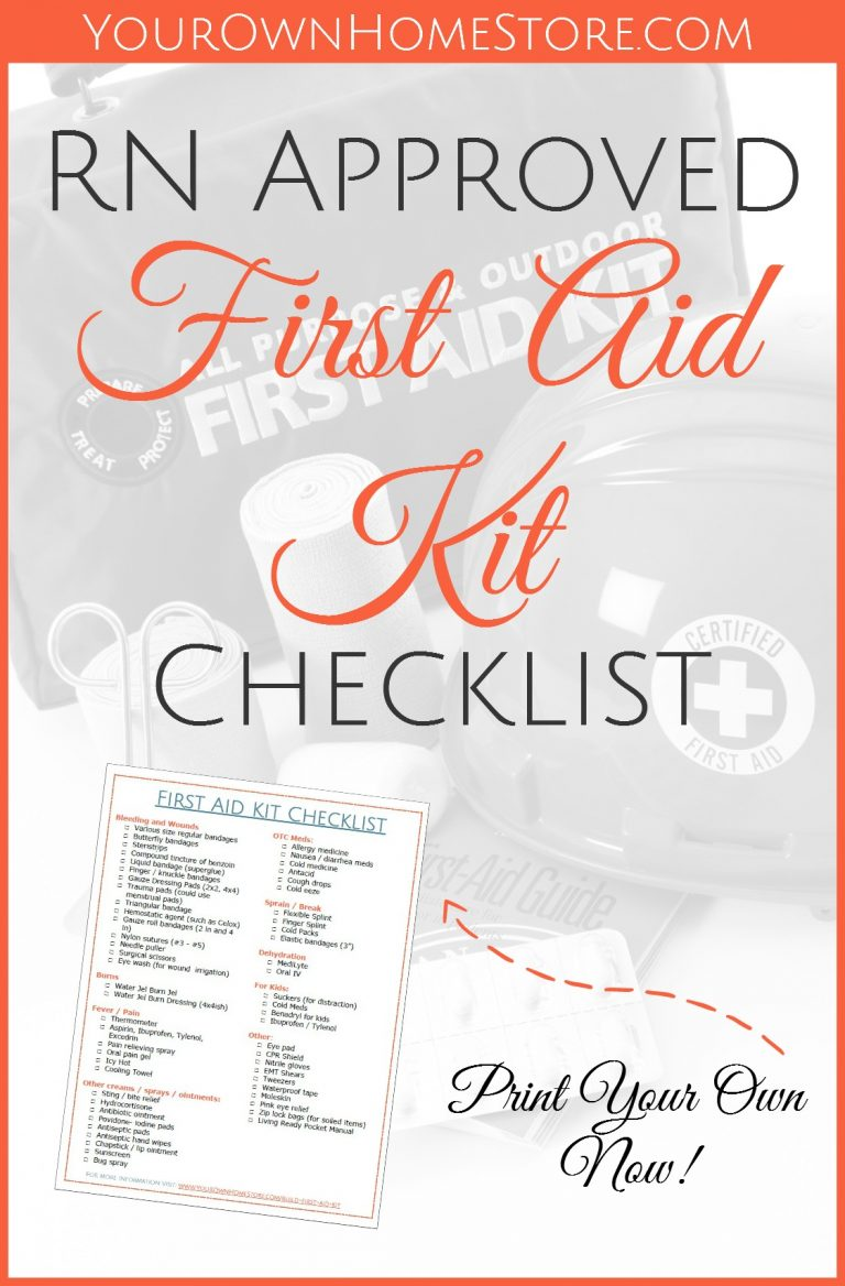 A Printable RN (and mom) Approved First Aid Kit Checklist #firstaid