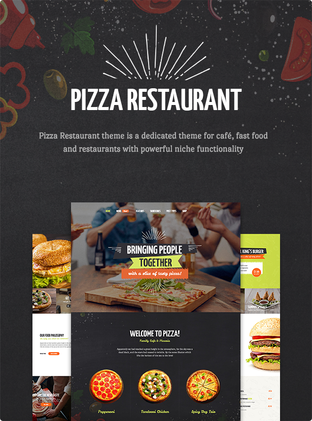 Pizza Restaurant - Fast Food, Cafe & Restaurant WordPress Theme ...