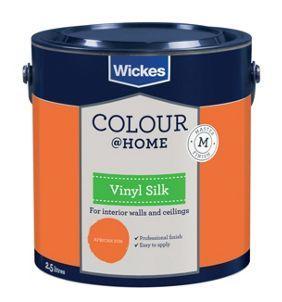 Wickes Colour Home Vinyl Silk Emulsion Paint African Sun 2 5l Wickes Co Uk Wickes Vinyl Ivory Paint