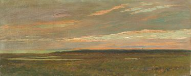 Arthur Hoeber The Marshes from Sunset Hill, 1910 (Oil on canvas, 12 x 30 inches) Spanierman Gallery, NYC