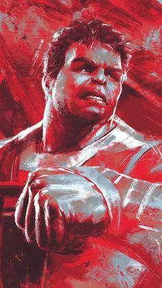 Avengers Endgame Professor Hulk Red Art IPhone Wallpaper ...