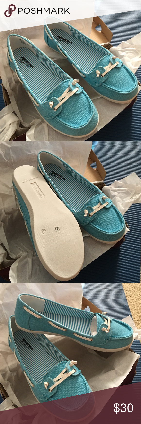 Nwt Arizona blue canvas loafers size 8 Nwt Arizona harbor blue canvas loafers retails for $60.00.New in the box.Any questions please ask Arizona Jean Company Shoes Flats & Loafers