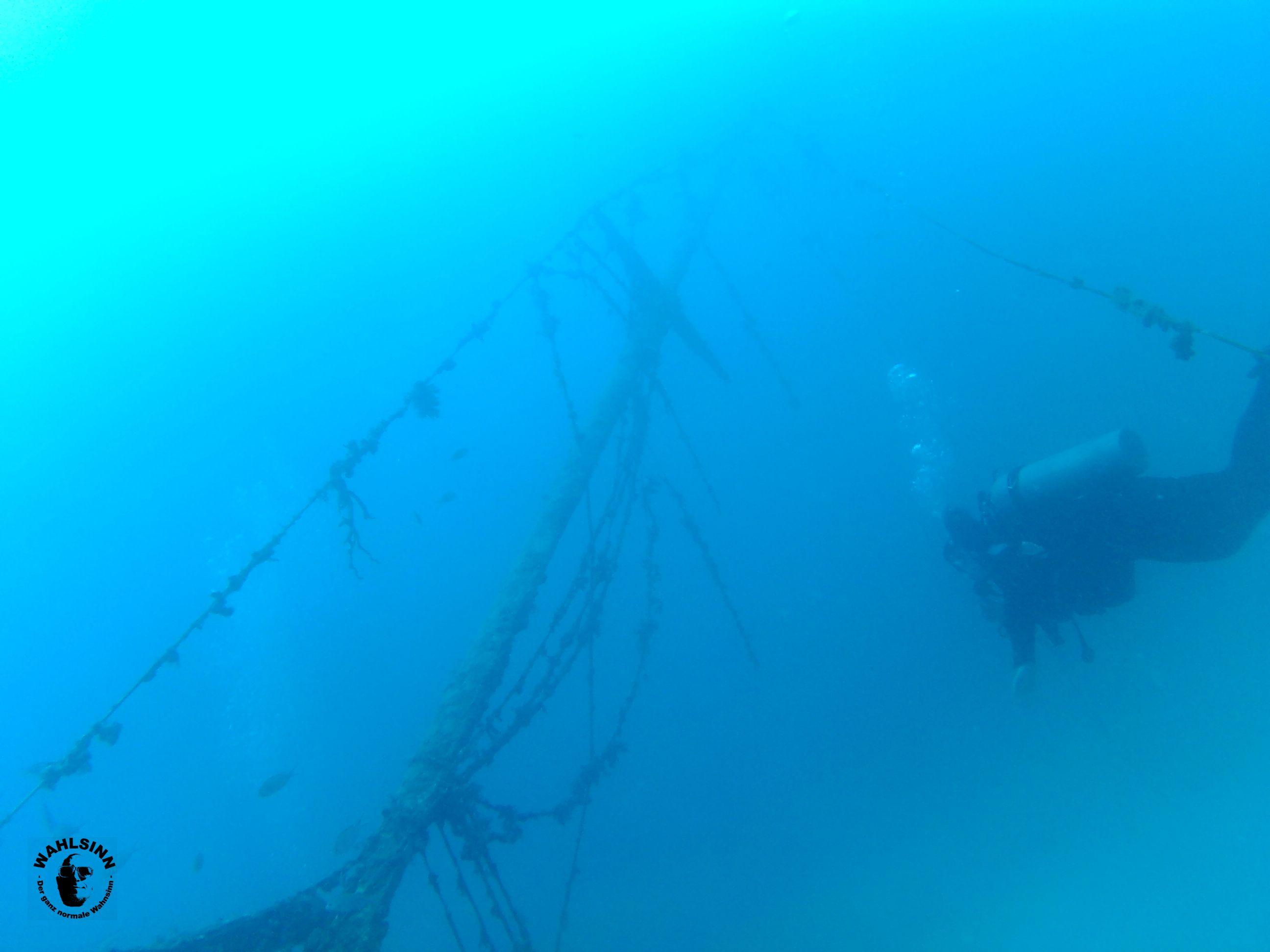 Barbados - eins der vielen Wracks, welches auf nicht allzu tiefer Tiefe erkundet werden kann!
