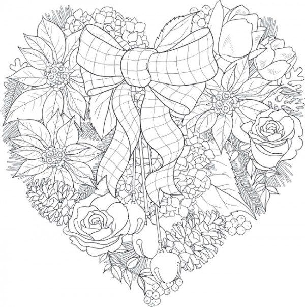 """join 11 people right now at """"6 christmas floral coloring"""