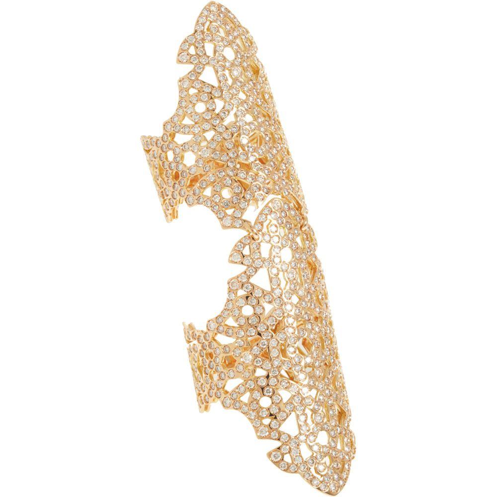 repossi| rose gold diamond twin ring