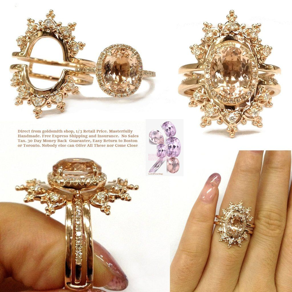 Oval Engagement Ring Sets Moissanite Tiara Ring