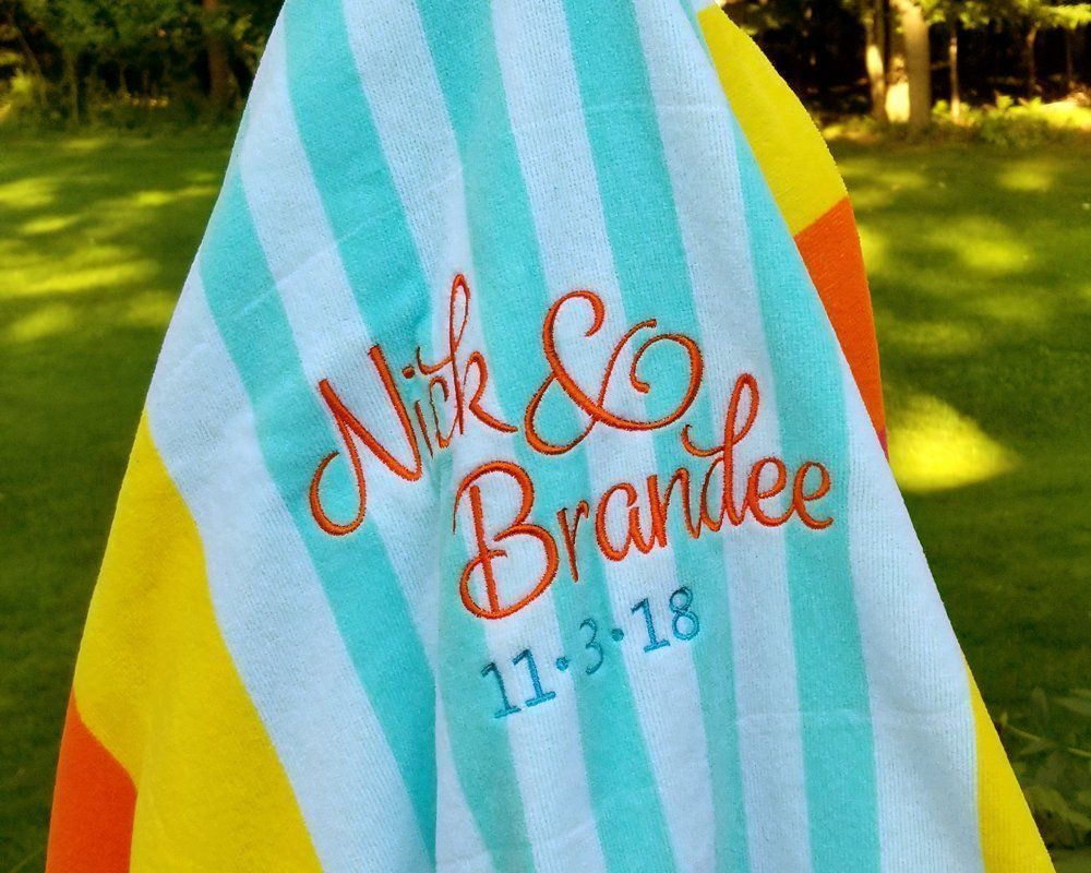 Beach Towel For Two Mr And Mrs Beach Towel Family Beach