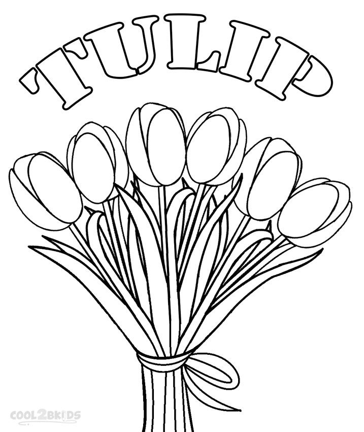 printable tulip coloring pages for kids cool2bkids - Tulip Coloring Pages