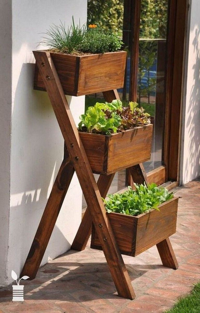 35 Creative Vertical Garden Ideas For Small Space Page 21 Of 40 Diy Wooden Planters Planter Box Designs Herb Garden Boxes
