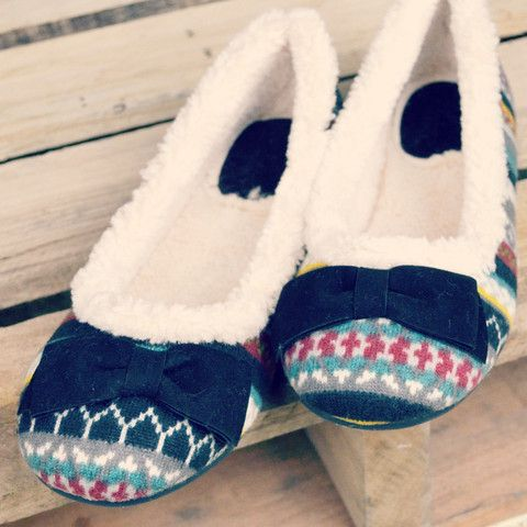 Warm Wishes Black Fleece Sweater Knit Ballet Flats | Amazing Lace