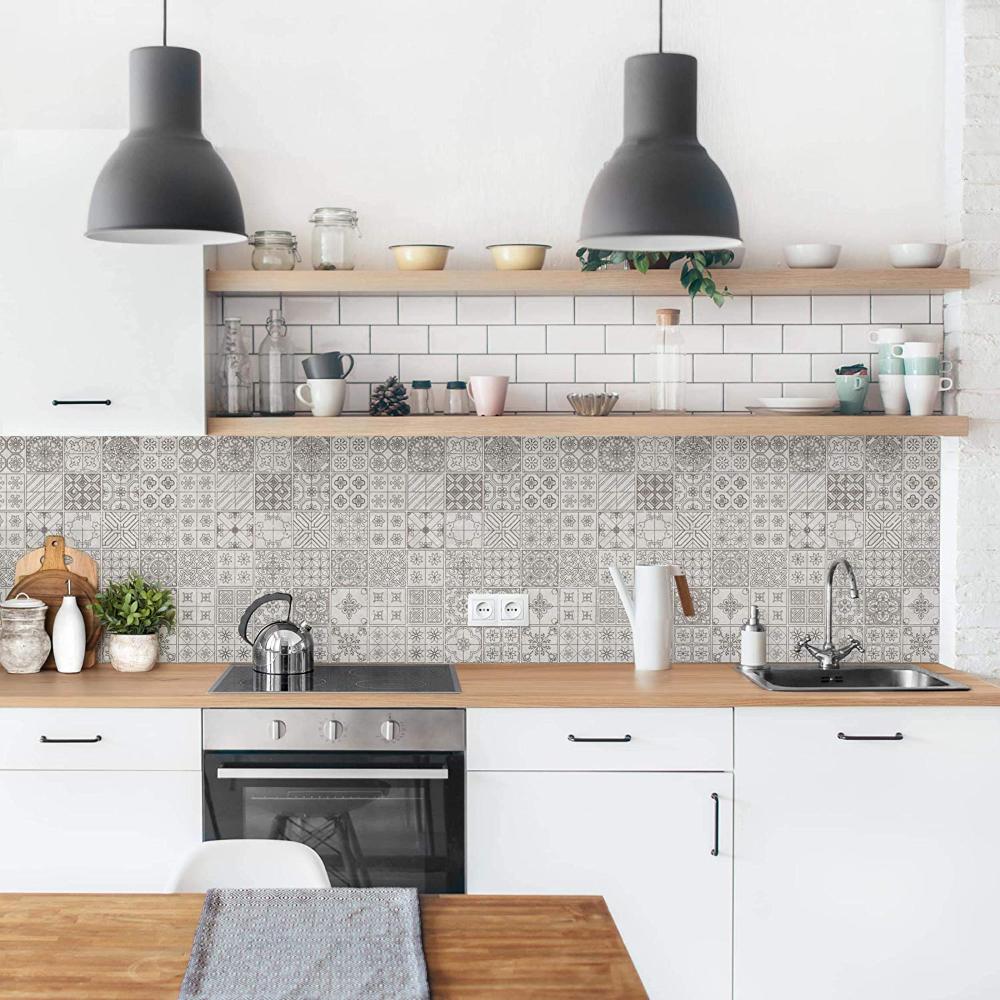 Bilderwelten Küchenrückwand selbstklebend Folie Fliesenmuster