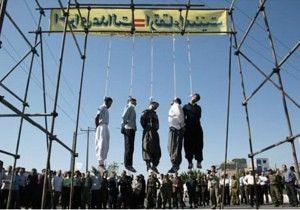 Iran hangs 1000's, including women & children.