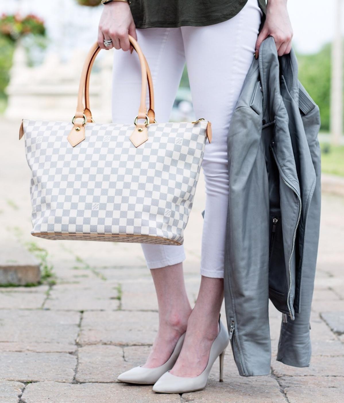 1ade0b7cb475 Louis Vuitton Damier Azur Saleya MM tote