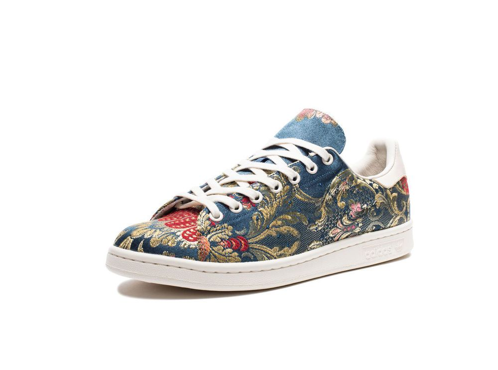 d96b55c90 Adidas x Pharrell Williams Stan Smith Jacquard Cerulean Blue EggShell SIZE  11