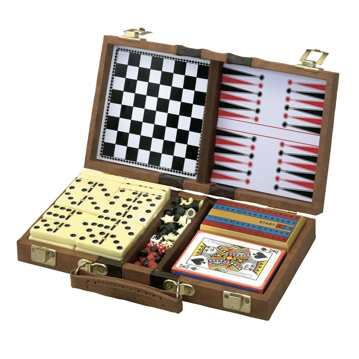 Fatcat 550203 6in1 game set classic board games