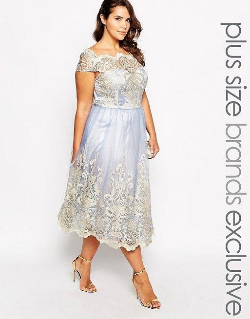 Chi Chi London Plus Metallic Lace Cap Sleeve Midi Prom Dress   Pinterest