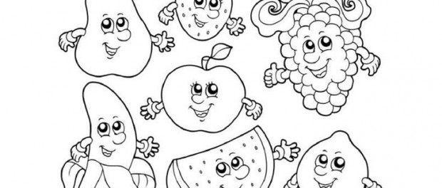 Anasınıfı Sevimli Meyveler Boyama Sayfası 1 Tutumyatirim Ve