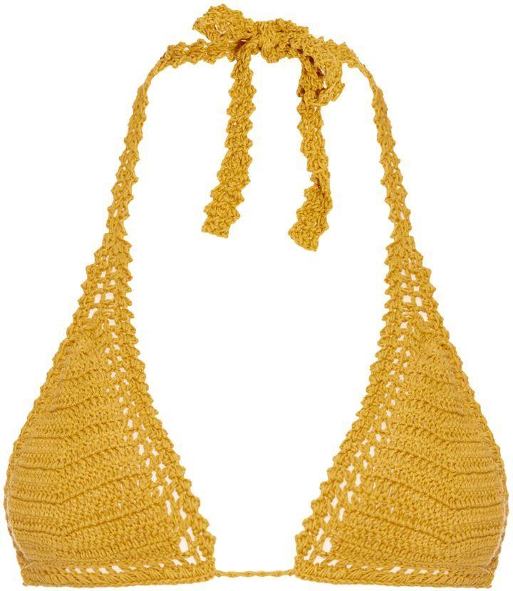 SHE MADE ME Essential Sliding crochet triangle bikini top | Crochet ...