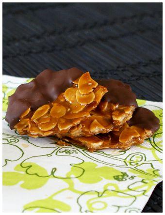 Concours chocolat : Recette n°14 : Florentins aux amandes et chocolat au lait