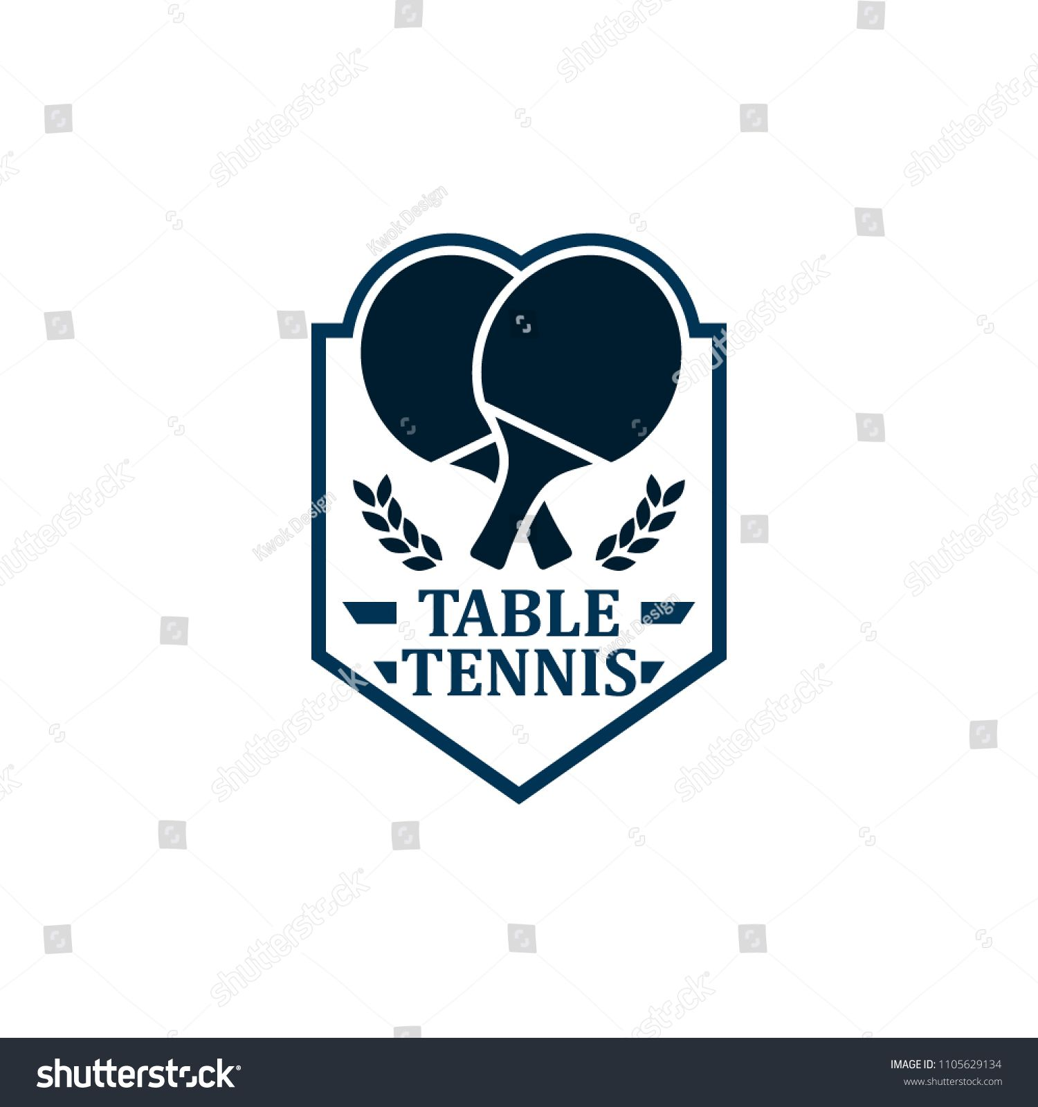 Table Tennis Badges Emblems Logos With Simple Text Designs Sport Labels Vector Illustration For Ping Pong Club Ad Spo Logo Gallery Emblem Logo Text Design