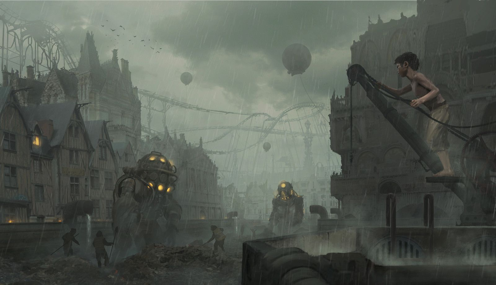 Tlennbern series. The Dump Channel, Rostyslav Zagornov on ArtStation at https://www.artstation.com/artwork/lGzEV